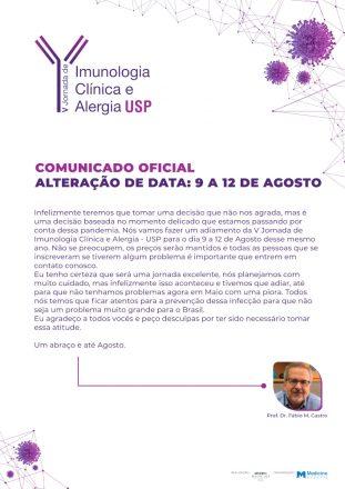 V Jornada de Imunologia Clínica e Alergia USP