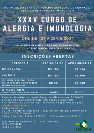 XXXV Curso de Alergia
