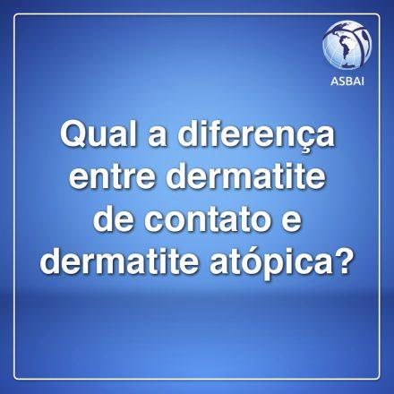 Qual a diferença entre a dermatite de contato e a atópica?