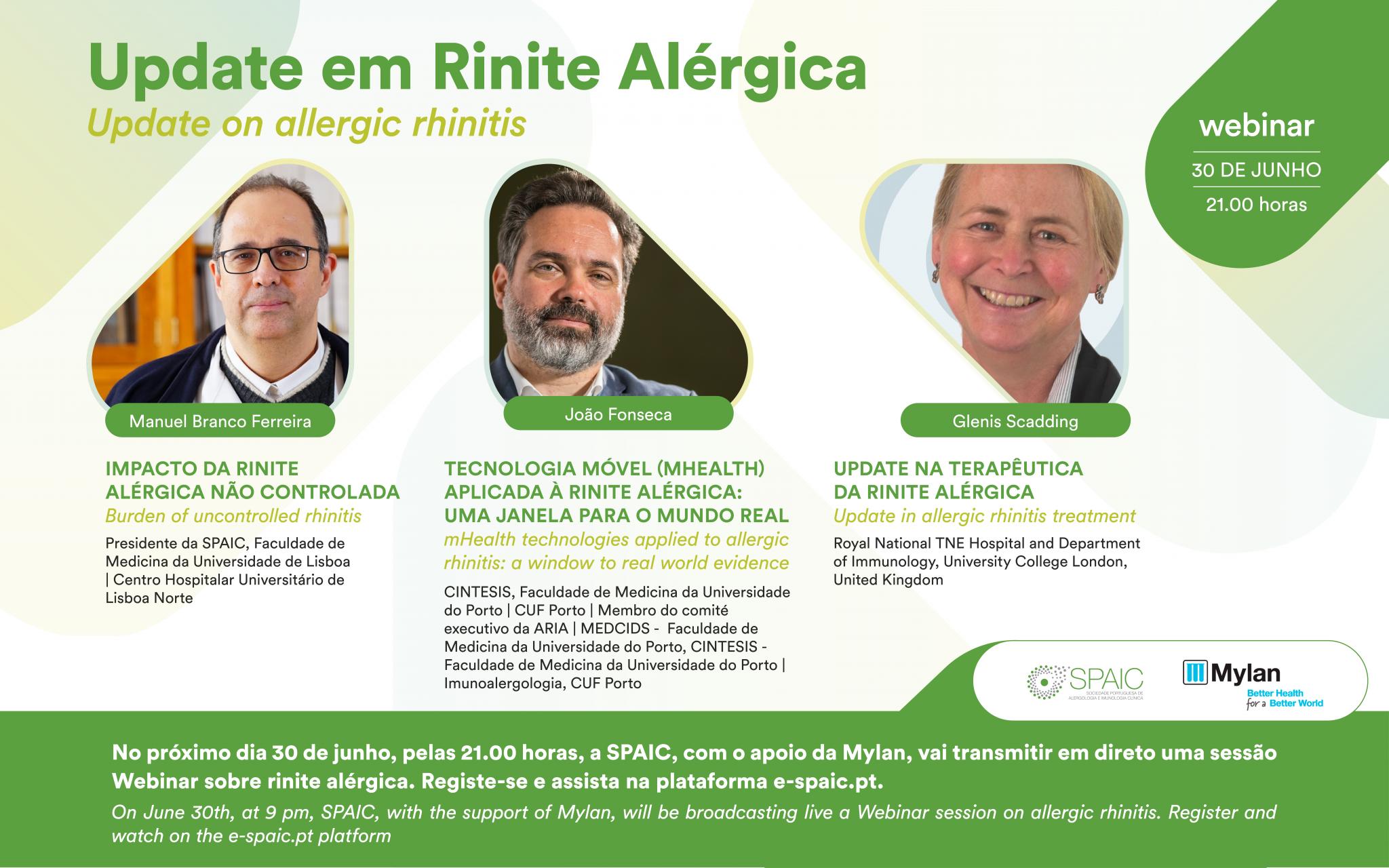 """Webinar """"Update em Rinite Alérgica"""""""