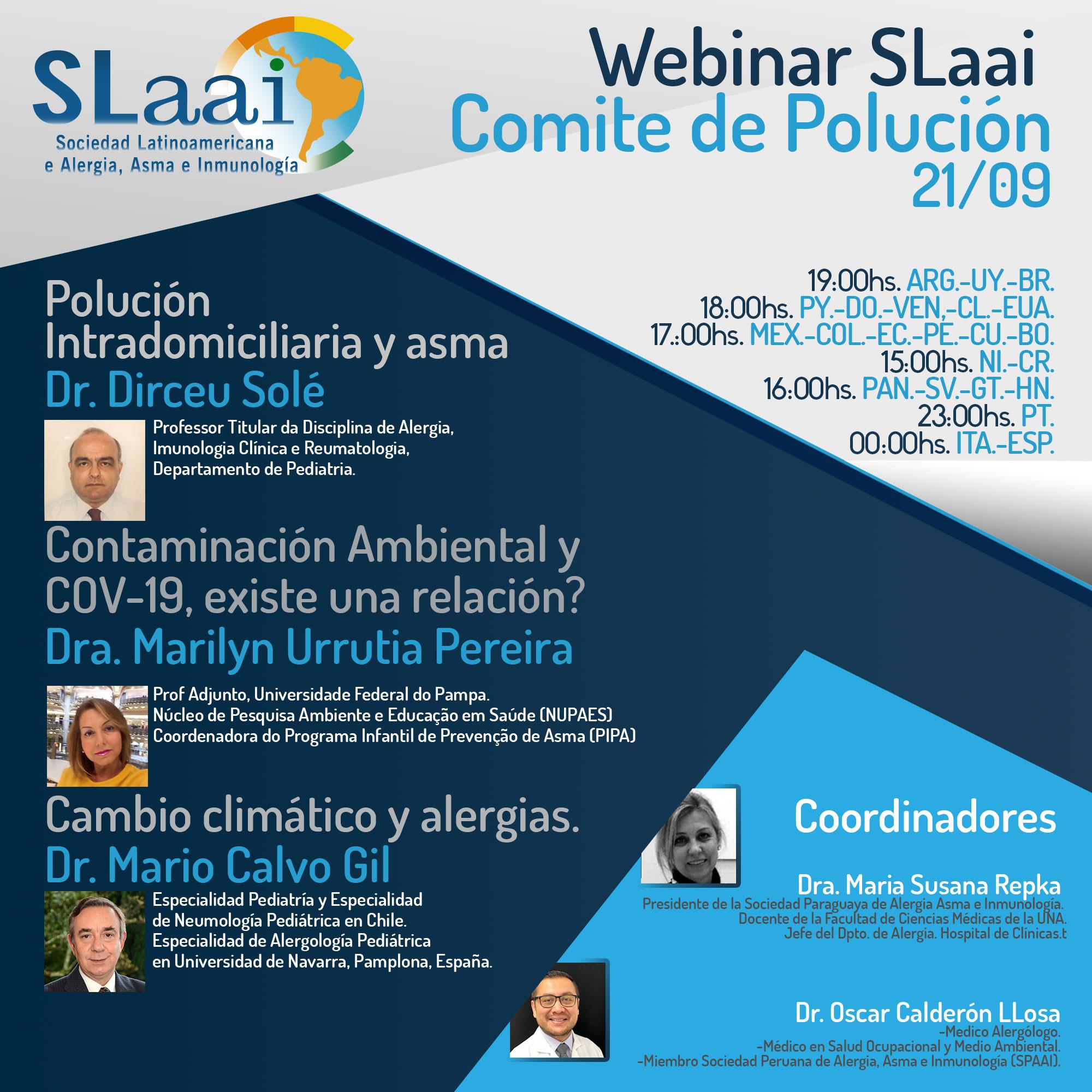 Invitacion Webinar SLaai Comite CIentifico de Polucion