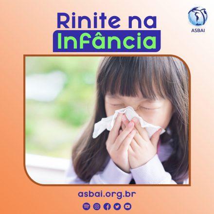 Rinite começa na infância e atinge cerca de 26% das crianças