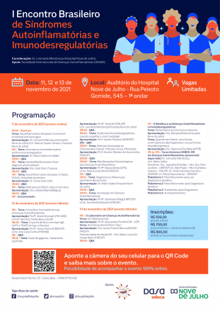 I Encontro Brasileiro de Síndromes Autoinflamatórias e Imunodesregulatórias
